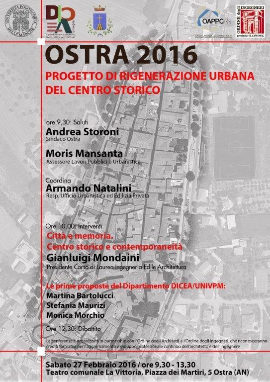 Immagine Conferenza Progetto di rigenerazione urbana del centro storico di Ostra