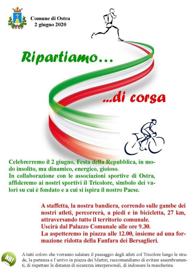 Corsa a staffetta per celebrare la Festa della Repubblica