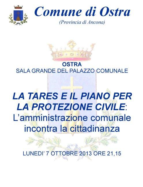 04/10/2013 - La TARES e il piano per la Protezione Civile