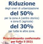 Riduzione oneri urbanizzazione 2021