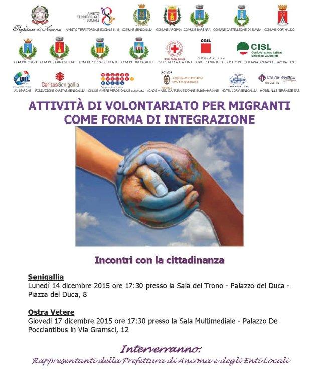 Attività di volontariato per migranti come forma di integrazione
