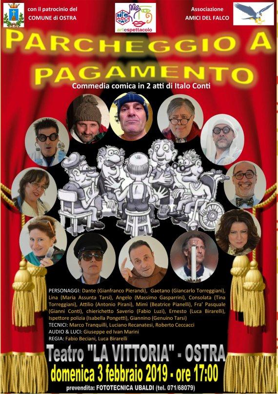 """Domenica 3 febbraio 2019 - Spettacolo Teatrale """"Parcheggio a pagamento"""""""