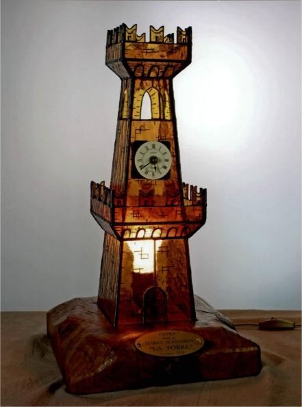 Torre civica in vetro realizzata da Giorgio Toschi - Donata dal comitato del Gemellaggio alle amiche tedesche di Markt Schwaben